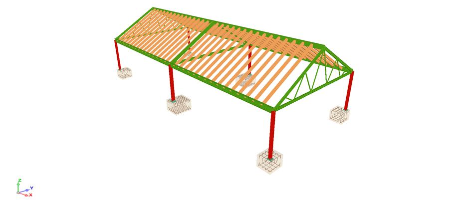 proyecto de cubierta en edificios
